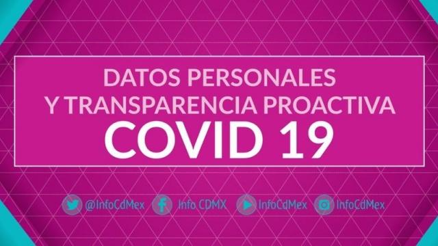 Datos Personales y Transparencia Proactiva COVID 19